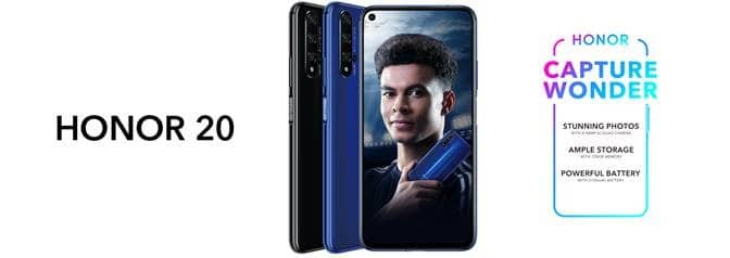 Honor 20 Blue and Black