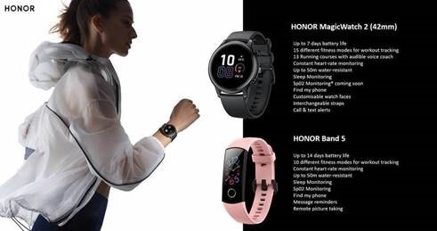 Honor band 5 and maigc watch 2