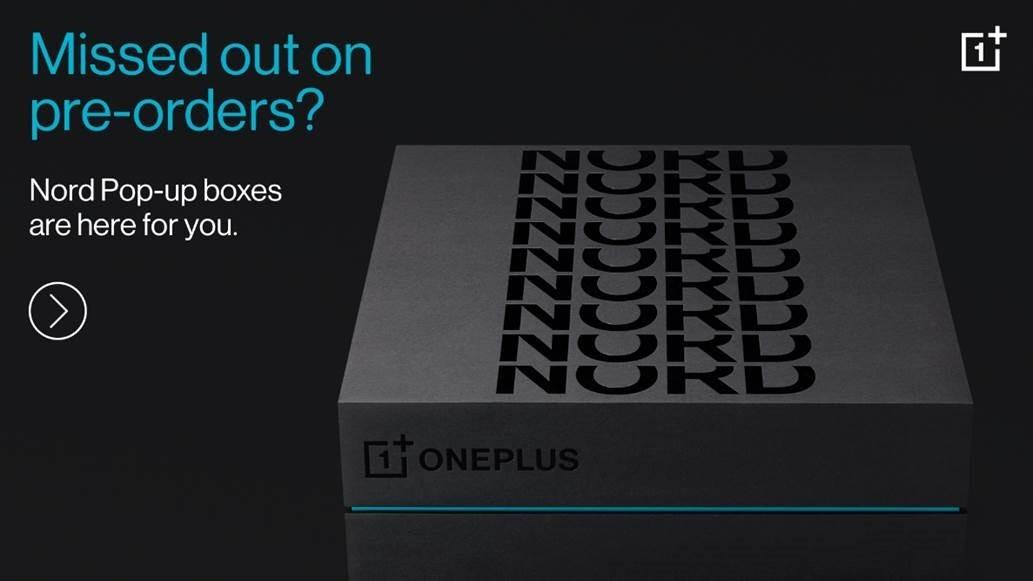 OnePlus Nord pre orders pop ups