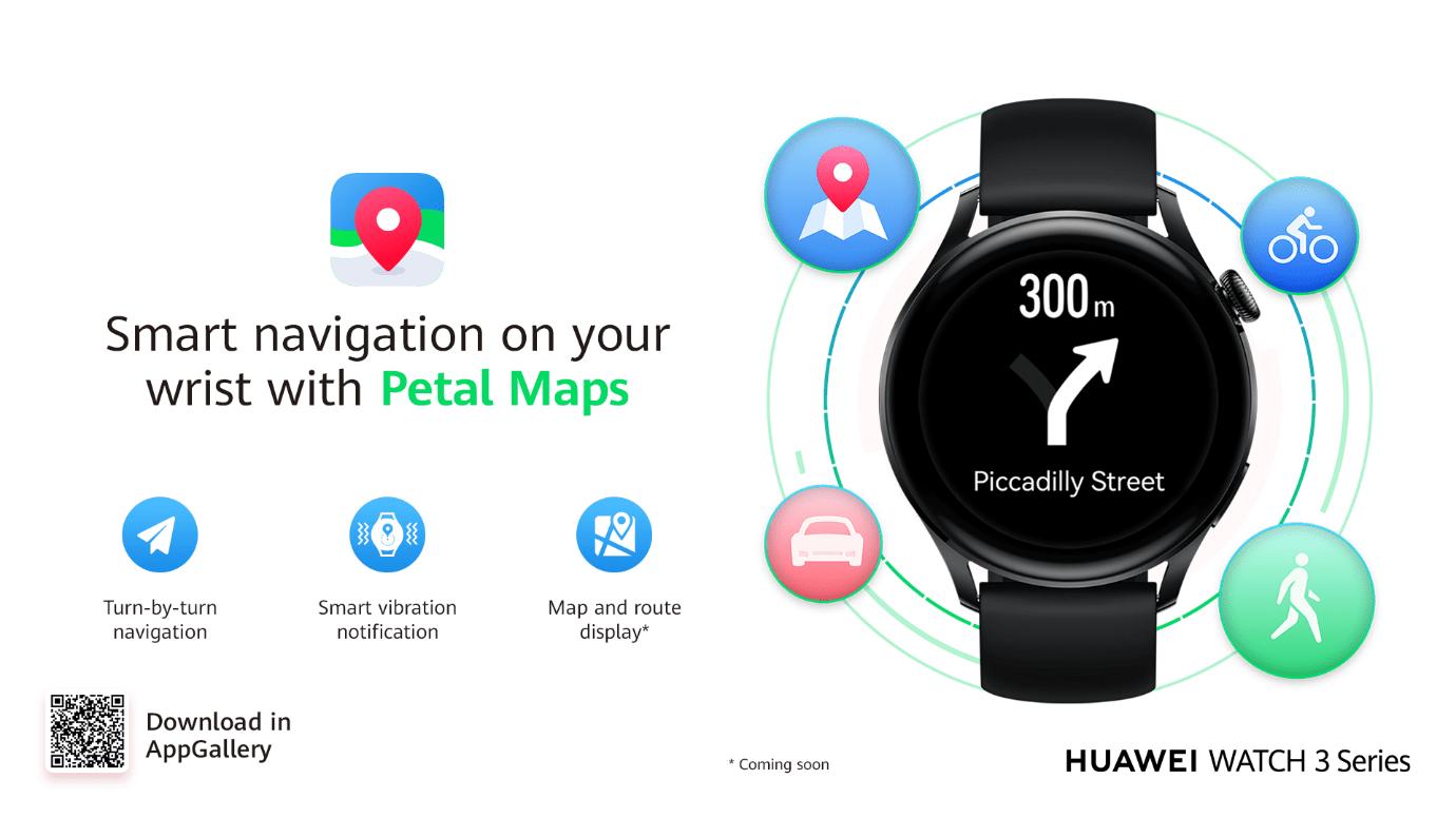 petal maps Huawei watch 3