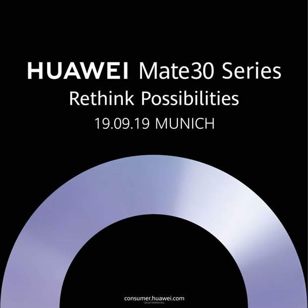 Huawei Mate 30 Munich Germany Mate 30 Pro, Huawei announces the launch date for the Mate 30 series